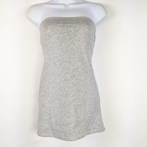 American Eagle Light Gray Strapless Top Blouse L